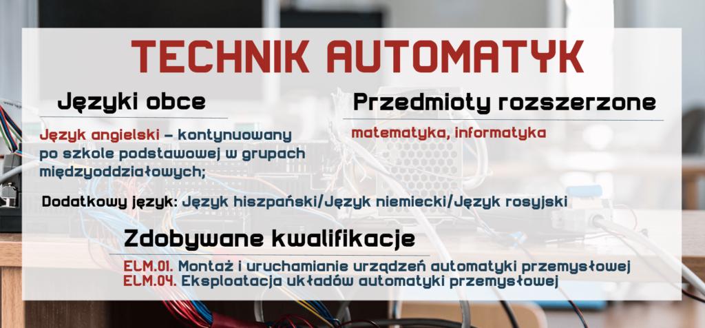 TECHNIK AUTOMATYK Zespół Szkół Komunikacji
