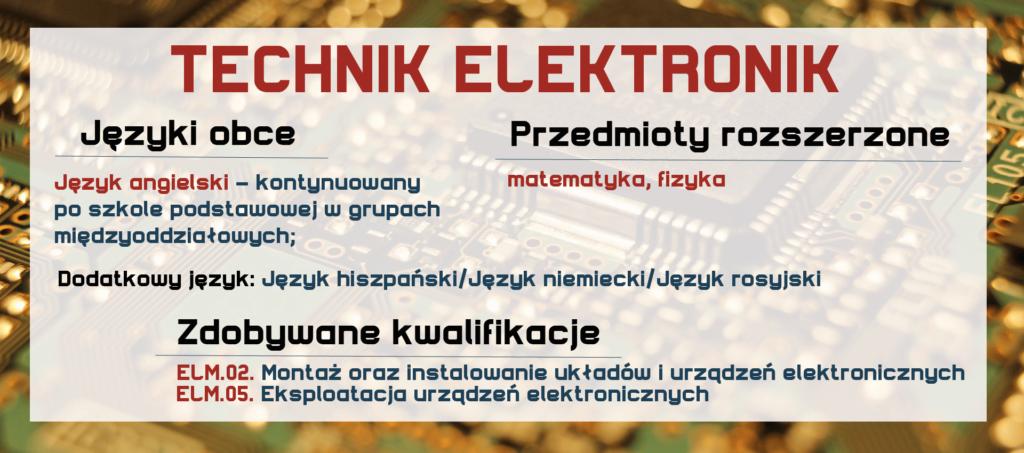 TECHNIK ELEKTRONIK Zespół Szkół Komunikacji