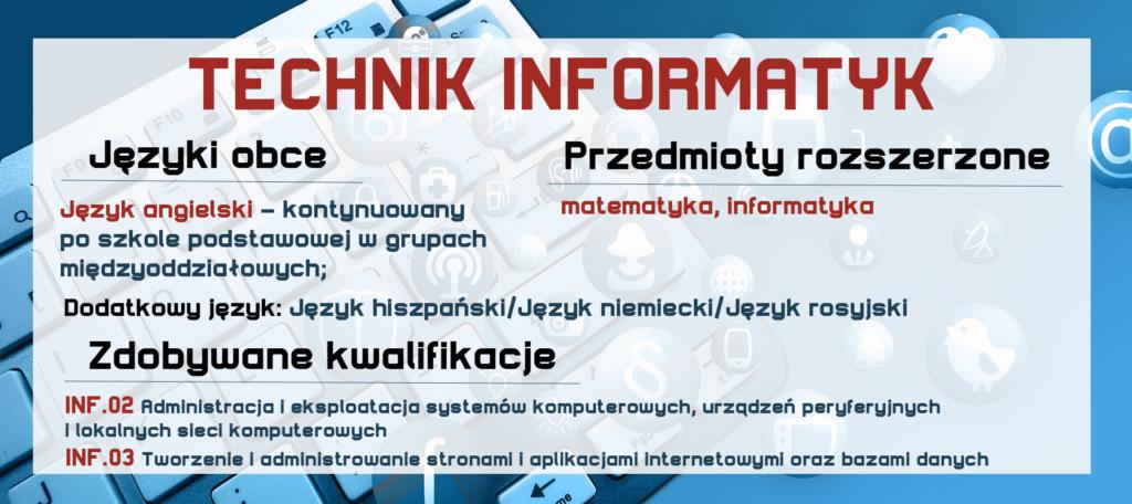 TECHNIK INFORMATYK Zespół Szkół Komunikacji
